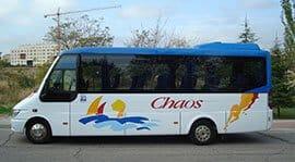 Autocares Chaos - Realizamos el transporte de pasajeros para todo tipo de eventos