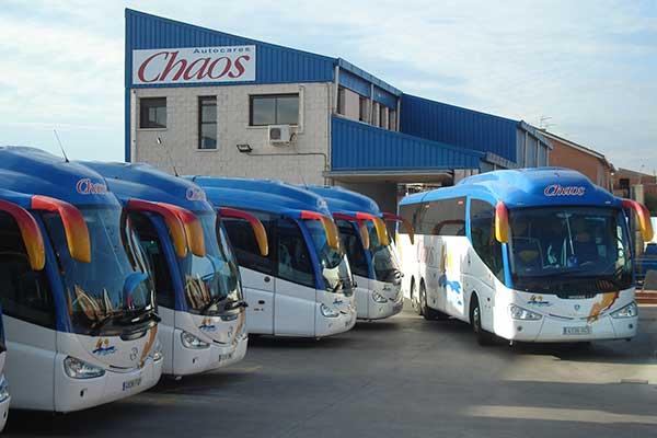 Los autobuses de autocares chaos