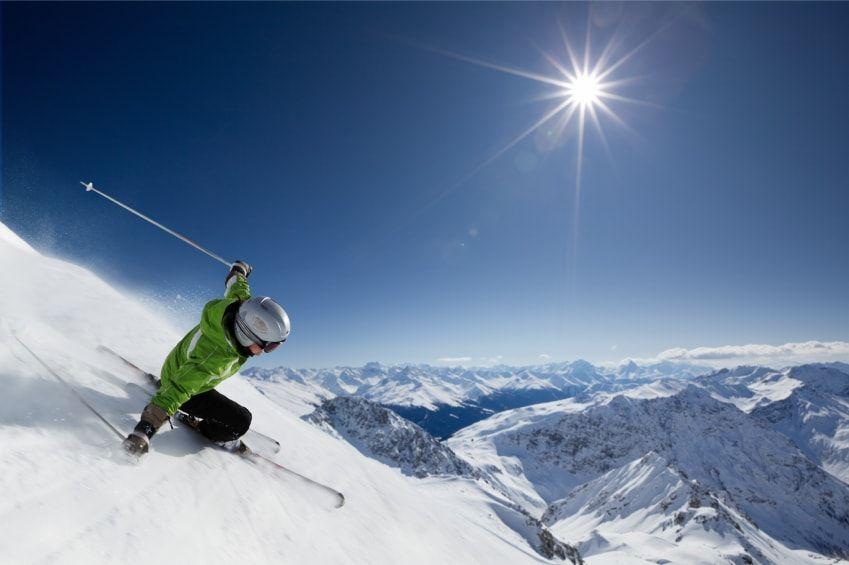 a esquiar en autobús