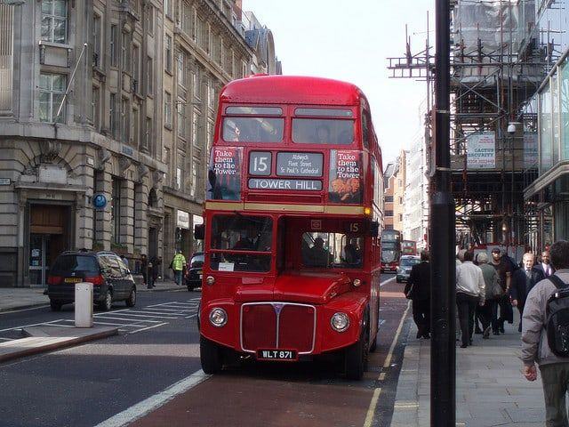 autobus rojo londres