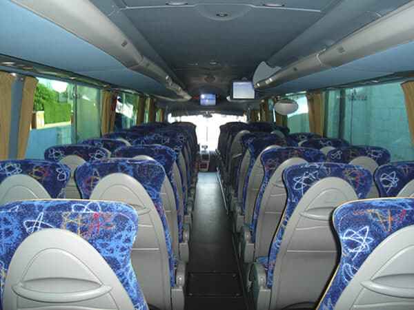 interior moderno flota autobuses