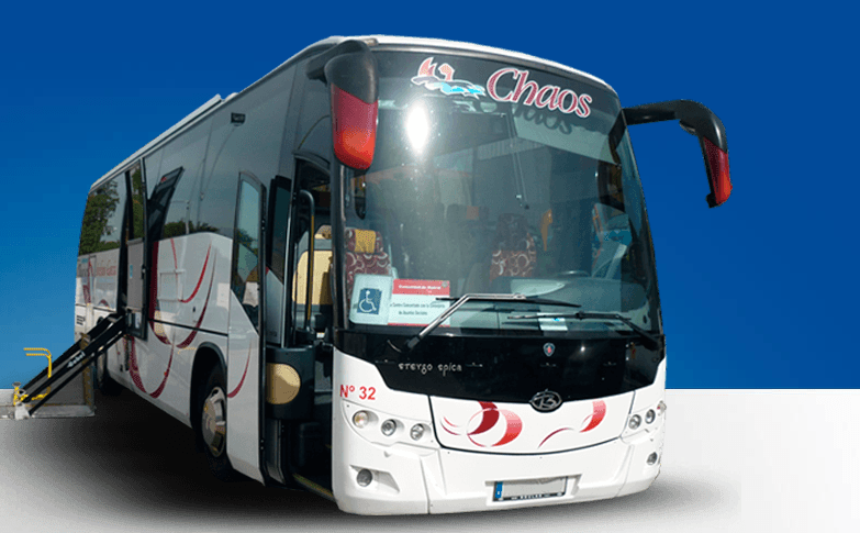 moderna flota de autobuses
